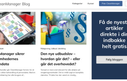 Ny rengøringsblog skal hjælpe branchens ledere